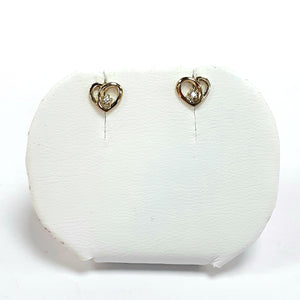 9ct Yellow Gold Hallmarked Cubic Zirconia Earrings - Product Code - J601