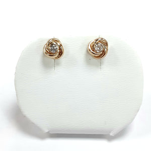 9ct Yellow Gold Hallmarked Cubic Zirconia Earrings - Product Code - VX1