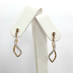 9ct Yellow Gold Hallmarked Cubic Zirconia Earrings - Product Code - VX776
