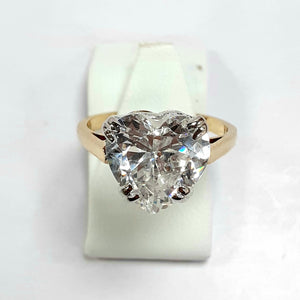 9ct Yellow Gold Hallmarked Ladies Cubic Zirconia Ring - Product Code - F832