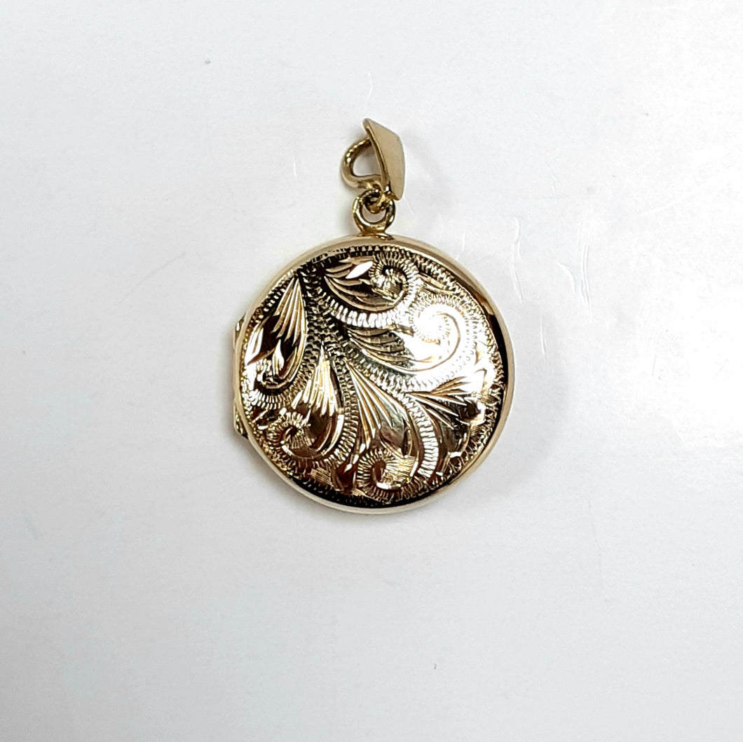 9ct Yellow Gold Hallmarked Locket - Product Code - U694