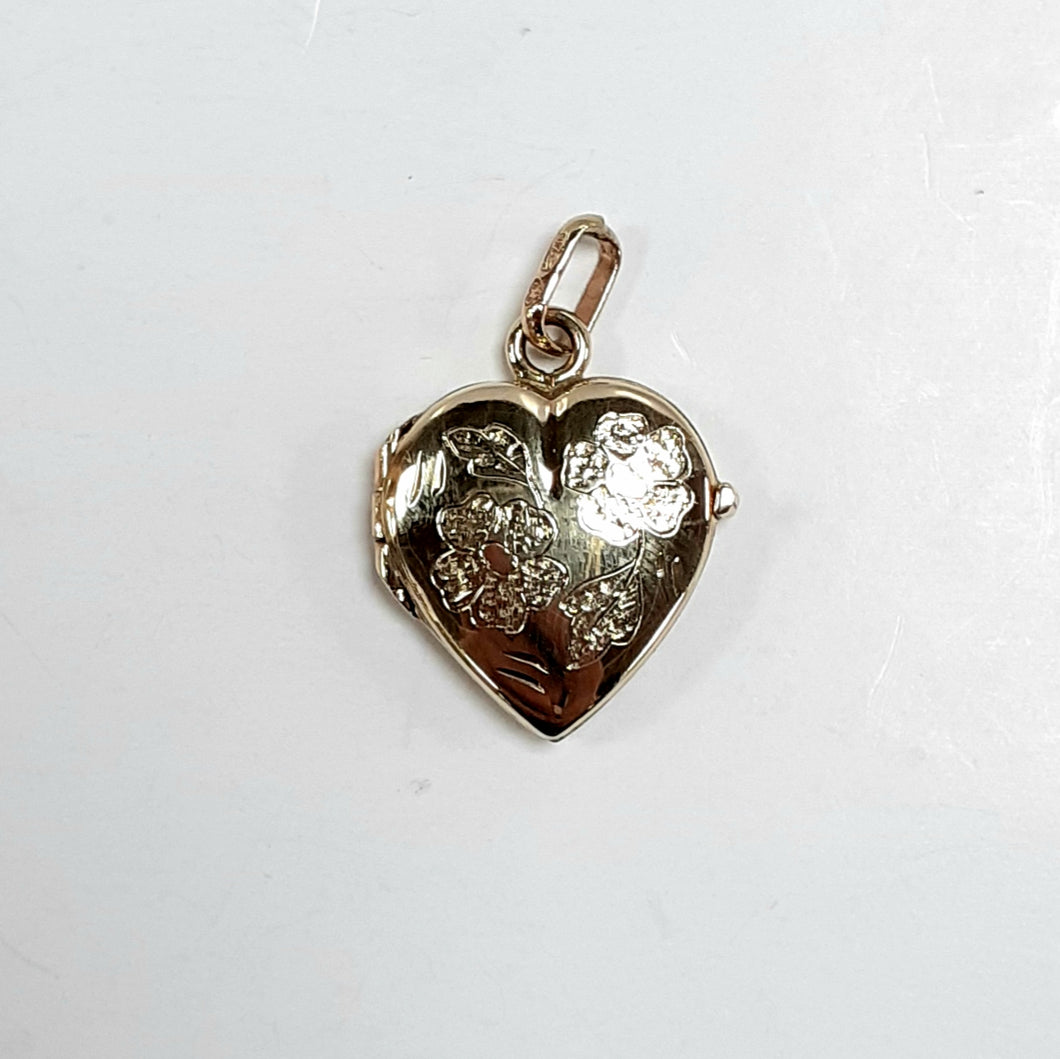 9ct Yellow Gold Hallmarked Locket - Product Code - VX647