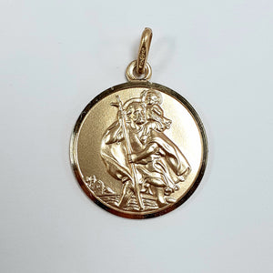 9ct Yellow Gold Hallmarked Saint Christopher - Product Code - J542