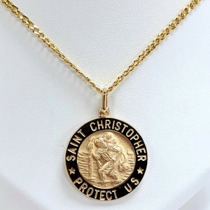 9ct Yellow Gold Hallmarked Saint Christopher - Product Code - VX215 / VX40