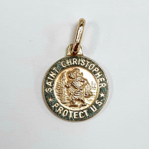 9ct Yellow Gold Hallmarked Saint Christopher - Product Code - VX37