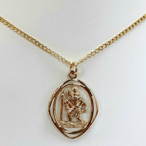 9ct Yellow Gold Hallmarked Saint Christopher - Product Code - VX944 / J550