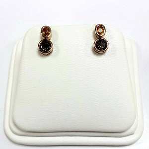 9ct Yellow Gold Hallmarked Stone Set Earrings - Product Code - AA52