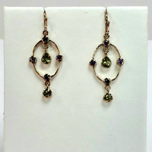 9ct Yellow Gold Hallmarked Stone Set Earrings - Product Code - C536