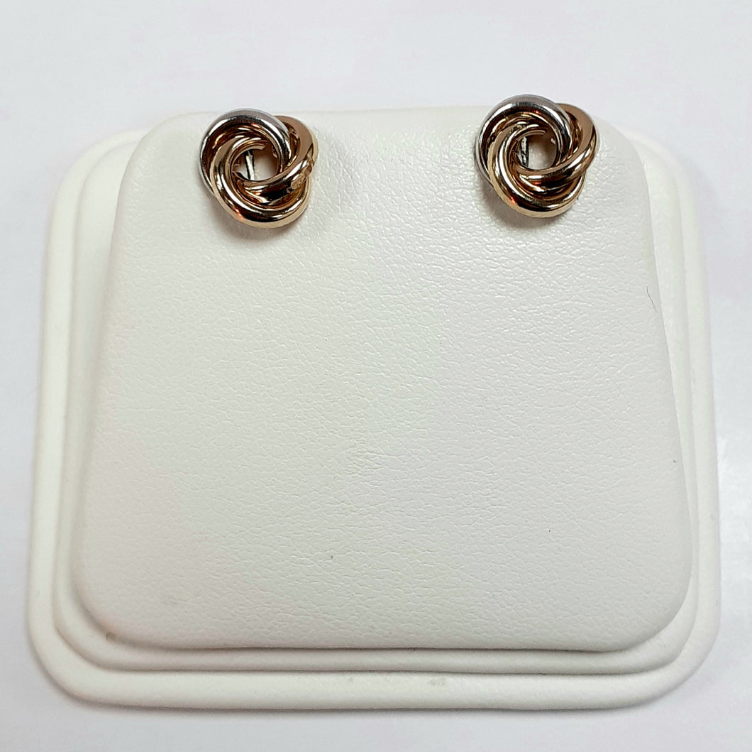 9ct Yellow White & Rose Hallmark Earrings - Product Code - VX828