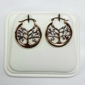 9ct Yellow & White Gold Hallmark Earrings - Product Code - C796