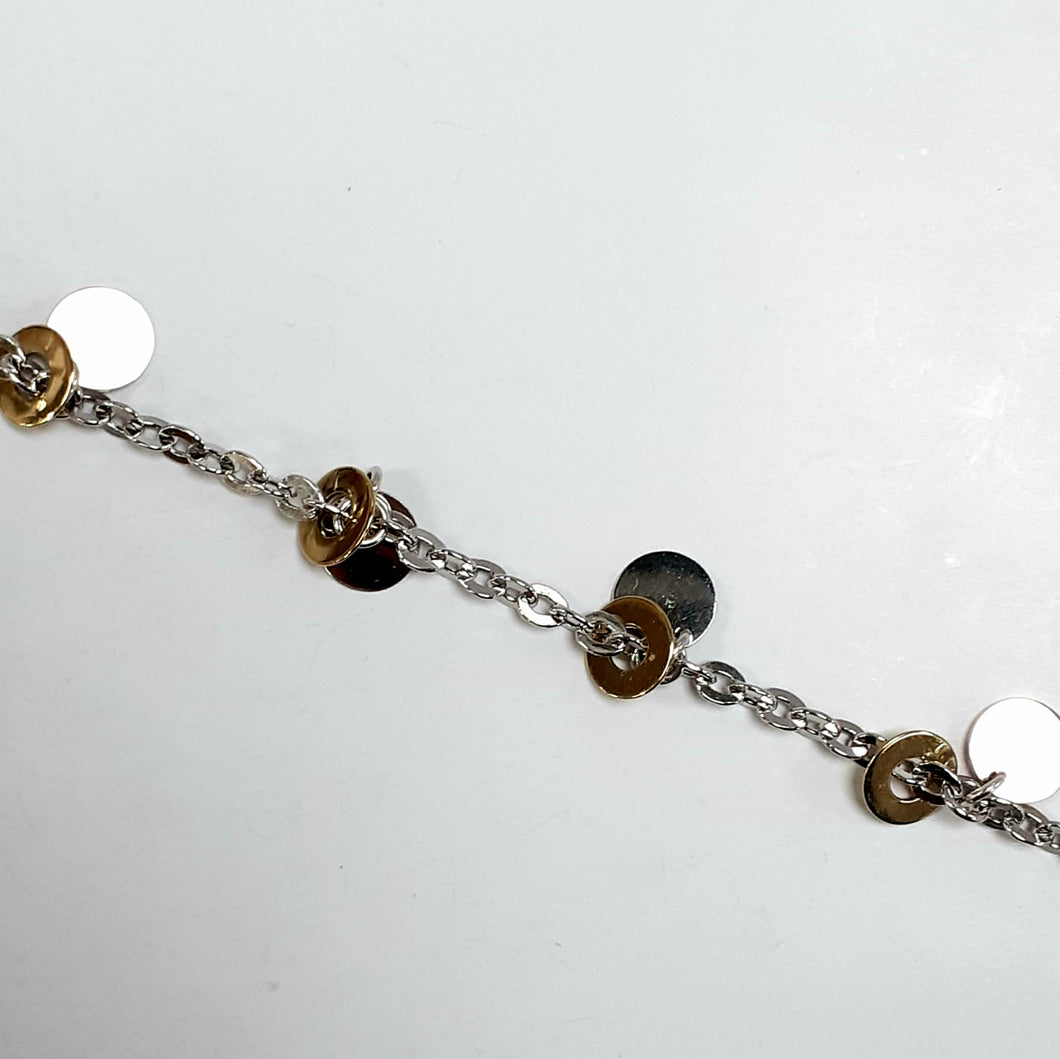 9ct Yellow & White Gold Hallmarked Ladies Bracelet - Product Code - B151