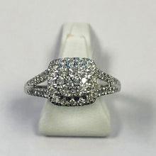 Load image into Gallery viewer, Diamond White Gold Square Shaped Ring
