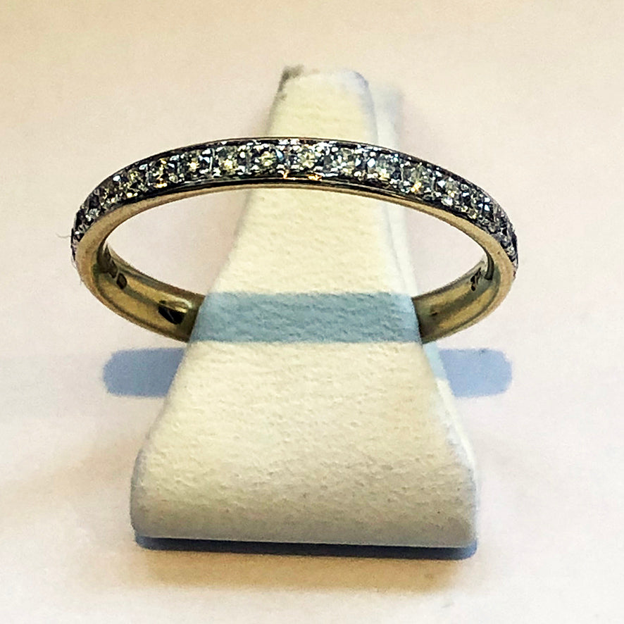 Diamond Yellow Gold Ladies Wedding Band Ring