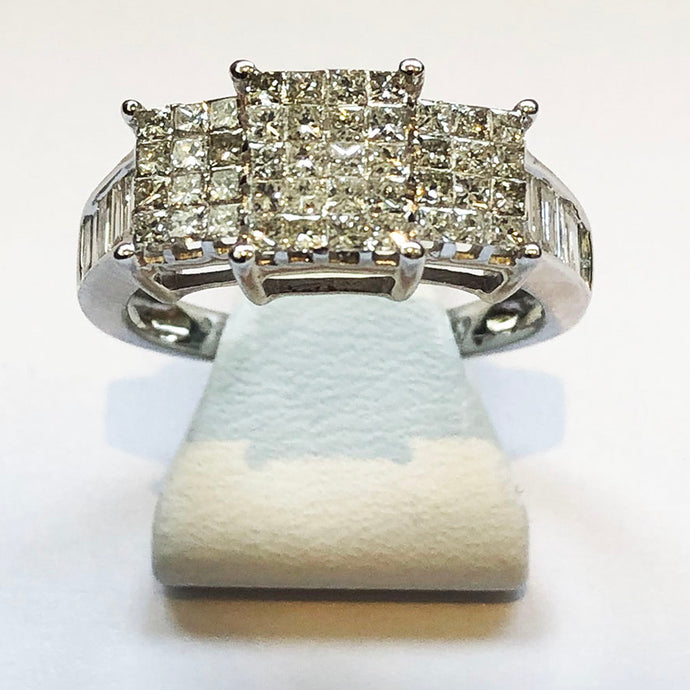 Diamond White Gold Designer Ring