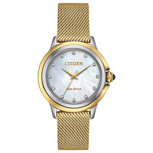 Citizen Women's Eco-Drive CECI DIAMOND Bracelet Watch - Product Code - EM0794-54D