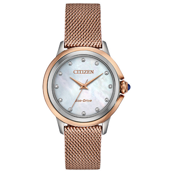 Citizen Women's Eco-Drive CECI DIAMOND Bracelet Watch - Product Code - EM0796-75D