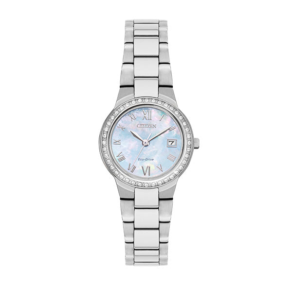 Citizen Women's Eco-Drive SILHOUETTE CRYSTAL Bracelet Watch - Product Code - EW1990-58D
