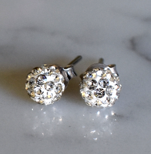 Large Glitter Stud Earrings