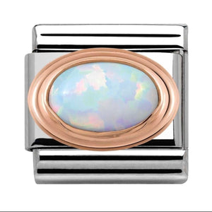 Nomination Rose Gold Opal Charm