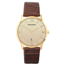 Load image into Gallery viewer, Sekonda Men's Classic Brown Leather Strap Watch - Product Code - 1041