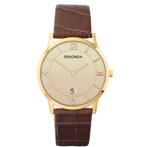 Sekonda Men's Classic Brown Leather Strap Watch - Product Code - 1041