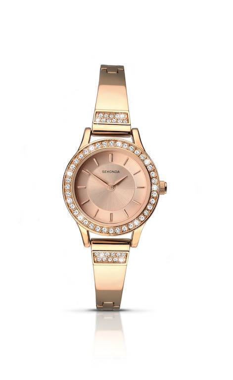 Sekonda Women's Rose Gold Bracelet Dress Watch - 2203