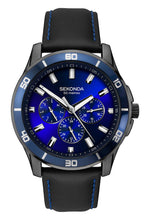 Load image into Gallery viewer, Sekonda Midnight Blue Men's Black Strap Dress Watch - Product Code -1634