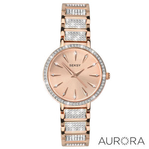 Seksy Aurora Rose Gold Plated Bracelet Watch - Product Code - 2372