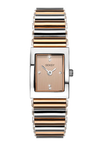 Seksy Edge® Two-Tone Rose Gold Plated Watch - Product Code - 2867