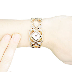 *HALF PRICE* Seksy Womens Crystal Hearts Watch Bracelet - Product Code - 4229