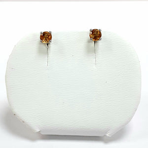 Silver Hallmarked Stone Set Earrings - Product Code - A195