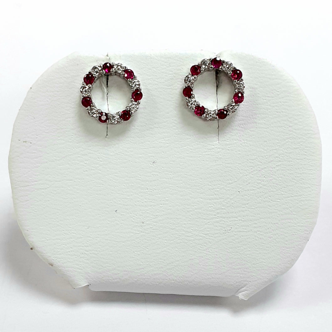 Silver Hallmarked Stone Set Earrings - Product Code - A424