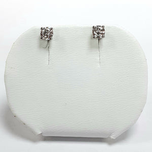 Silver Hallmarked Stone Set Earrings - Product Code - A581