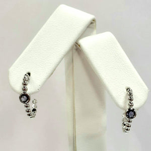 Silver Hallmarked Stone Set Earrings - Product Code - A637