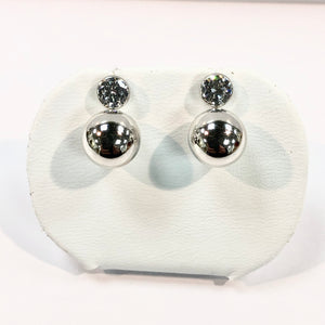 White Gold Hallmarked 375 Stone set Earring Product Code - VX887