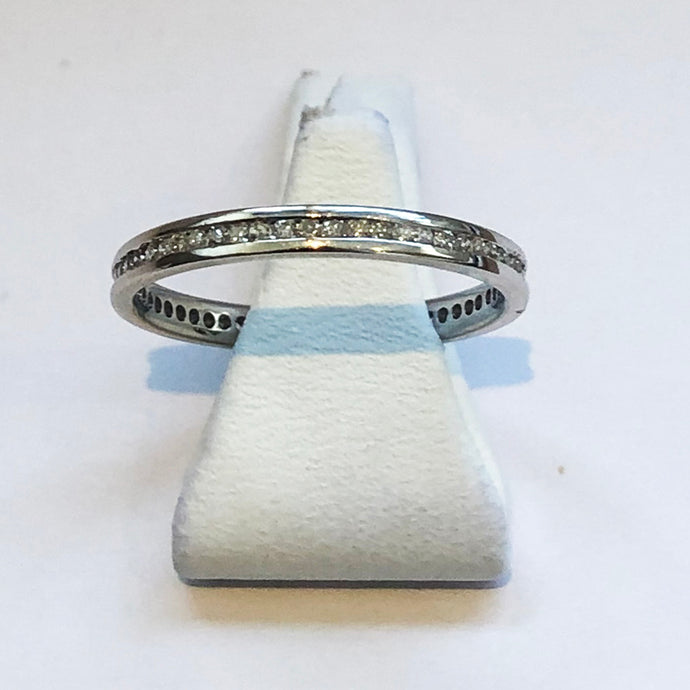 White Gold Wedding Band Ring