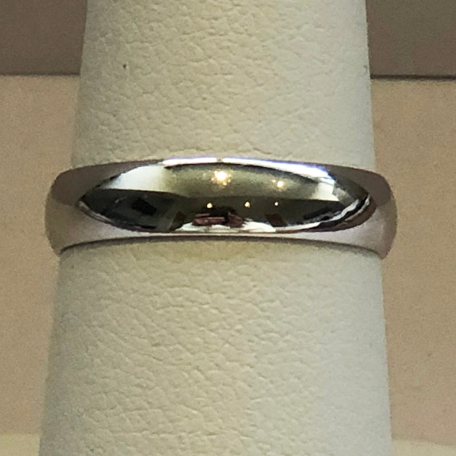 White Gold Ladies Wedding Band Ring