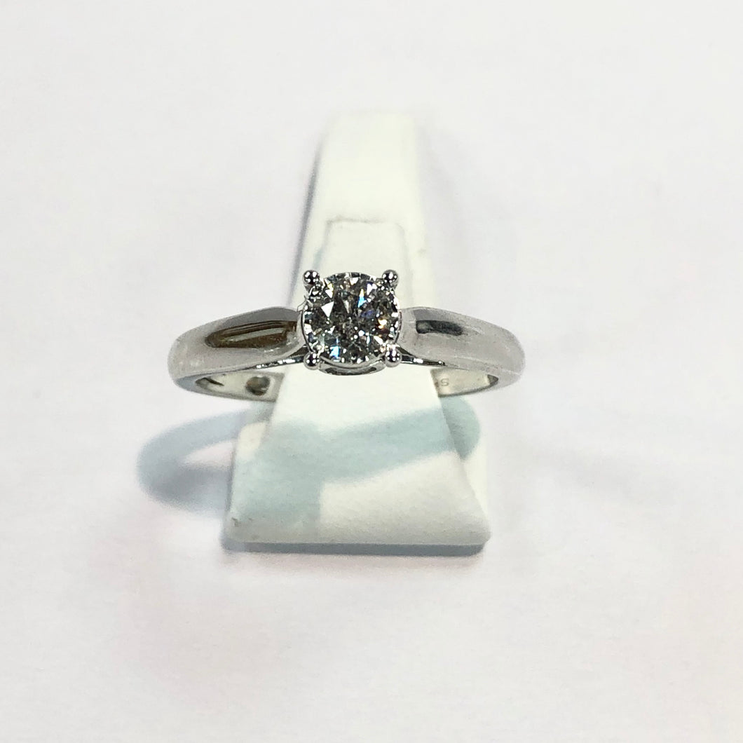 White Gold Hallmarked Diamond Solitaire - Product Code - G512