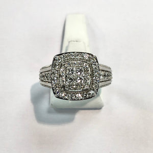 White Gold Hallmarked Diamond Ring - Product Code - G517