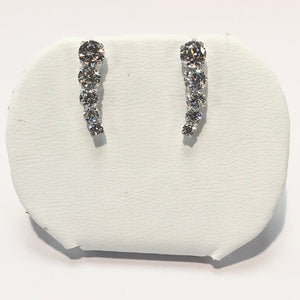 White Gold Stone Set Earring Product Code - VX218