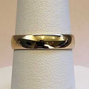 Yellow Gold 4mm D Shaped Wedding Band Ring
