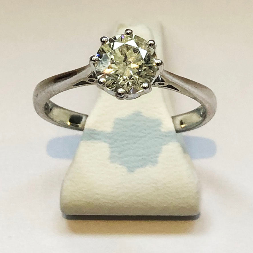 Diamond Platinum Solitaire Ring
