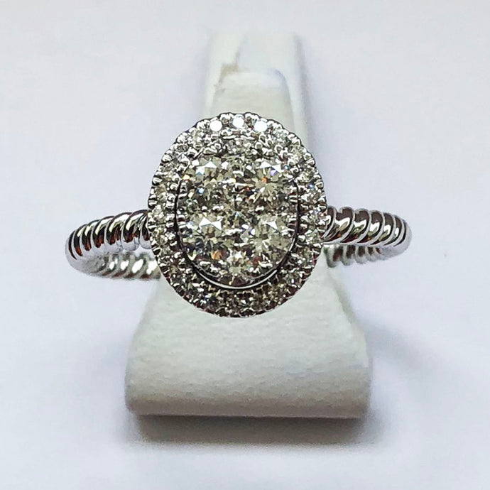 Diamond White Gold Oval Ring