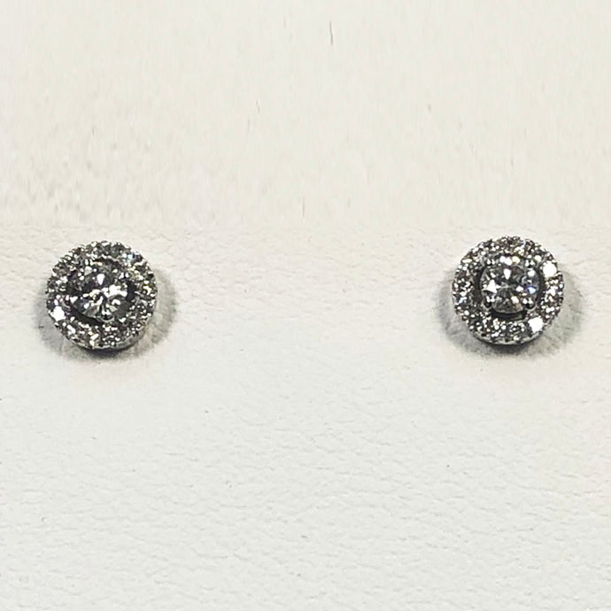 Diamond White Gold Earring Set