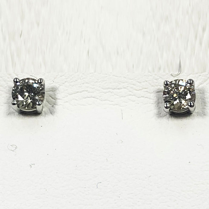 Diamond White Gold Cluster Earring Set