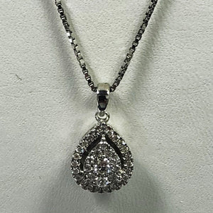 Diamond White Gold Earring And Necklace