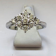 Load image into Gallery viewer, Diamond White Gold 9 Stone Ring