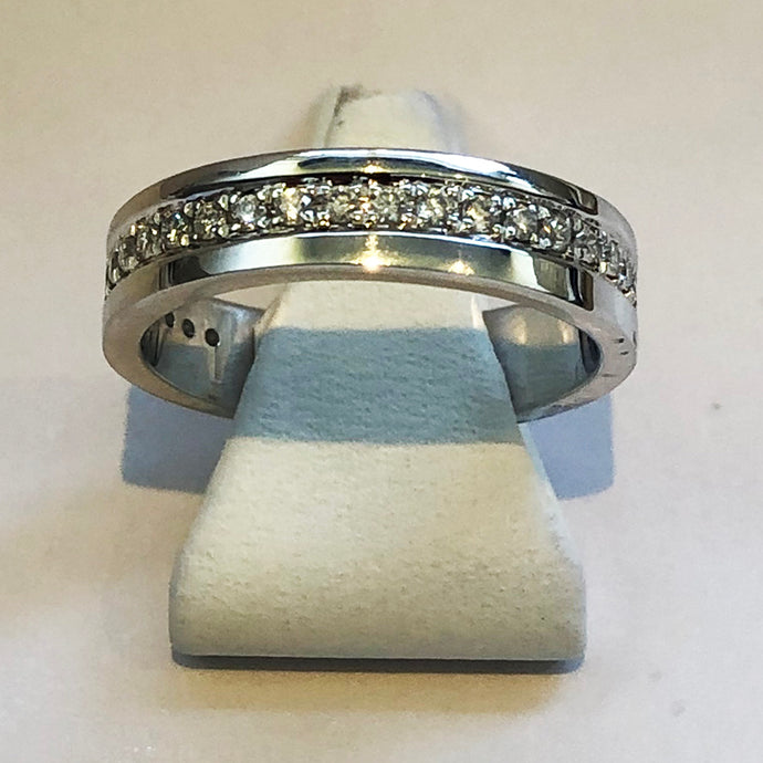 Diamond White Gold Band Wedding Ring