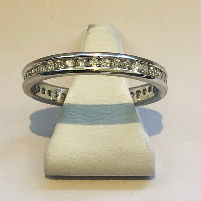 Diamond White Gold Full Band Wedding Ring