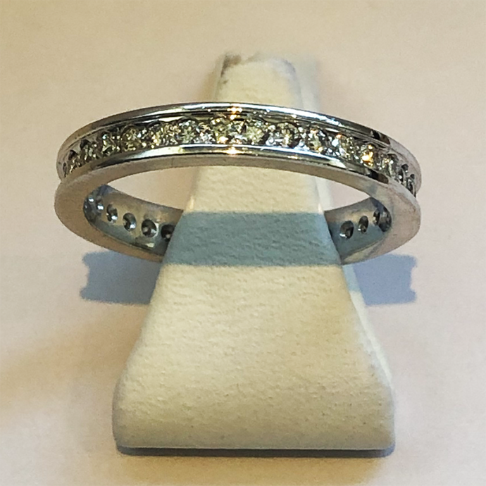 Diamond White Gold Full Handmade Band Wedding Ring